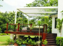 SMARTROOF®- Automatic Louvered Roof - Earth Control Systems, Surat