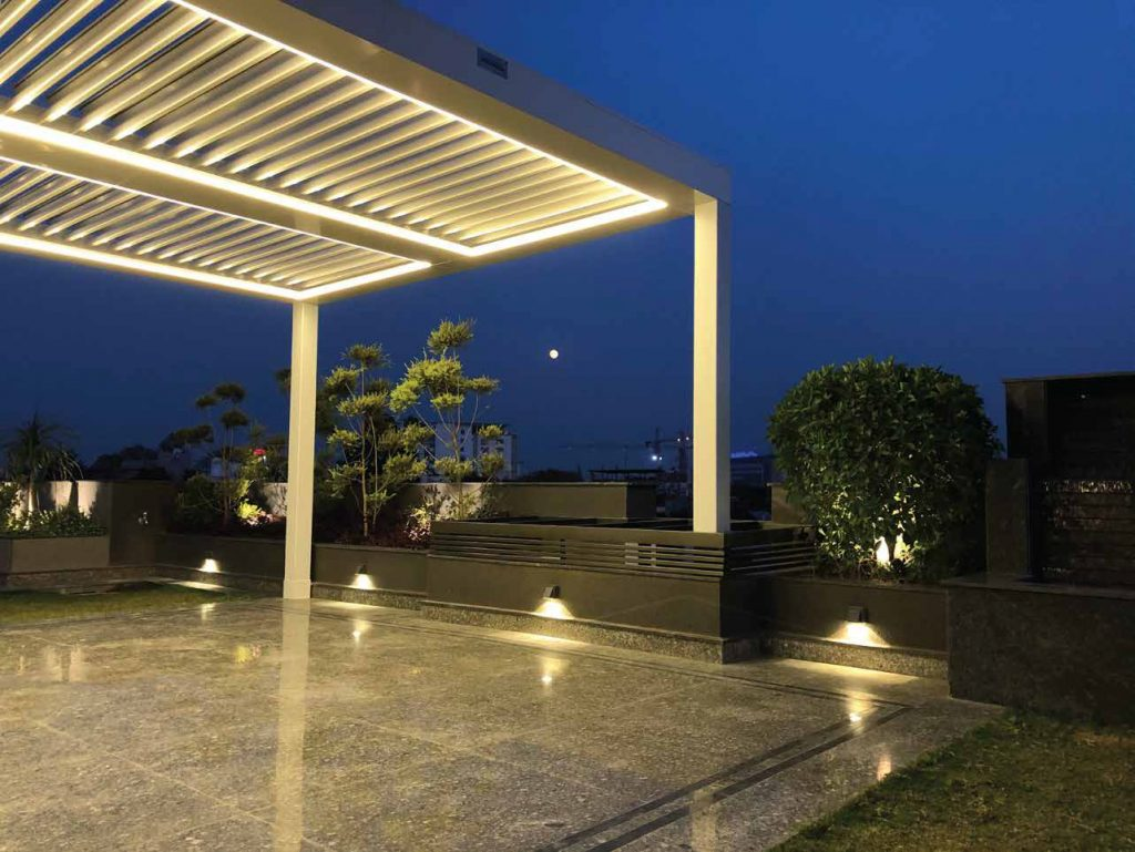 SMARTROOF®- Automatic Aluminium Louvered Roof - Earth Control Systems, Surat